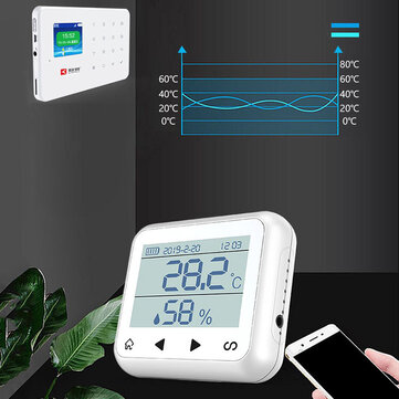 Home APP Remote Control Temperature Alarm Thermometer Hygrometer 433MHZ/868MH Desk Clock for sale in Litecoin with Fast and Free Shipping on Gipsybee.com