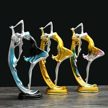 Decoración elegante de la muchacha del baile Resina Art Deco Escultura Estatua abstracta Decoraciones
