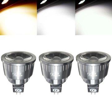 Dimmable MR16 5W LED foco de luz de foco de COB para la cocina de oficina en casa DC12V