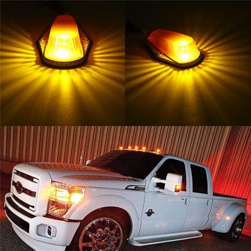5pcs גג אור דיור עם T10 מרקר מנורה מנורה ענבר עבור פורד Pickup