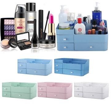 Buy Green/Pink/White/Dark Blue/Light Blue/Orange Red Cosmetic Jewelry Storage Box Shelf with 5 on Gipsybee.com