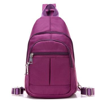 Waterproof Nylon Multi-Purpose Shoulder Bag Backpack Chest Diagonal Package Twill Bag