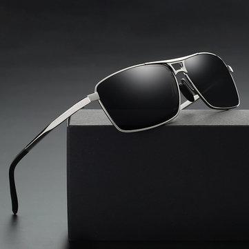 Men Women Square UV400 Polarized Sunglasses for Driving Photochromic Glasses Eyewear