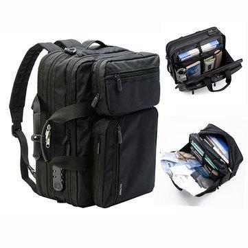 Men Anti-theft Briefcase Expandable Multi-pocket Waterproof Laptop Bag Large Capacity Backpack