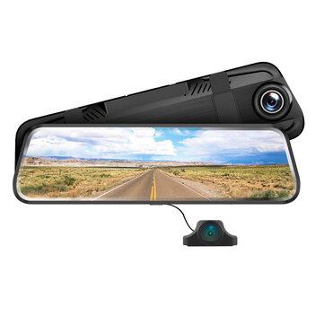 AZDOME AR08 FHD 1080P Dash Cam Streaming Media Full_Screen Touching Car DVR ADAS Dual Lens Night Vision Auto Video Recorder With Rear View Camera