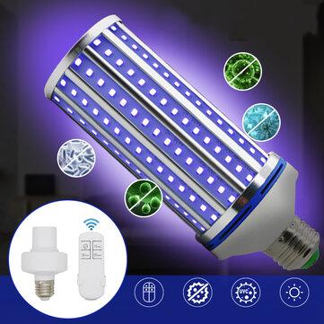 AC85 265V 60W E27 LED UVC Corn Bulb UV Germicidal Lamp Household Ultraviolet Disinfection Light Remote Control