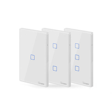 SONOFF® T2 EU / US / UK AC 100-240V 1/2/3 Gang TX-serie 433Mhz WIFI Wall Switch RF Smart Wall Touch Switch til Smart Home Work med Alexa Google Home