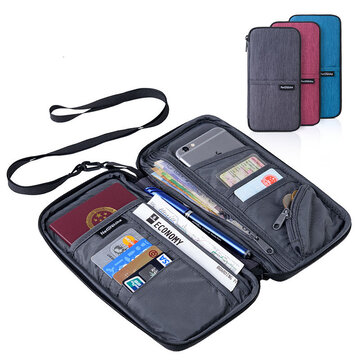 Naturehike NH17C001-B Travel Passport Card Bag Ticket Cash Wallet Pouch Holder For iphone