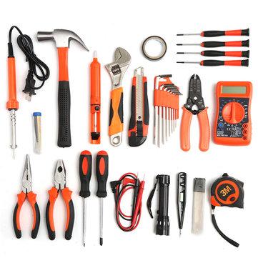 35 पीसी बहुआयामी उपकरण किट सेट स्टील घरेलू इलेक्ट्रिक किट हार्डवेयर टूलबॉक्स
