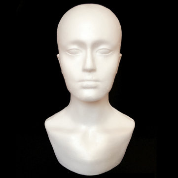 Male Polystyrene Foam Mannequin Stand Model Display Head Hat Cap Wig