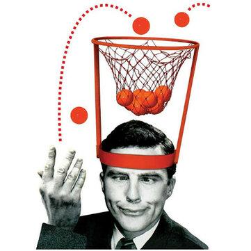 ヘッドバスケットボールフープゲームサークルショットプラスチックバスケット親 - 子供インタラクティブトイハット