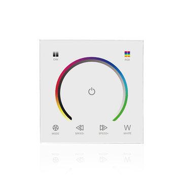 LUSTREON DC12-24V Panel táctil que cambia el color del interruptor del regulador del regulador de luz para RGBW LED Strip