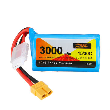 ZOP Power 14.8V 3000mAh 15 or 30C 4S Li ion Battery XT60 Plug for RC Drone Coupon Code and price! - $22
