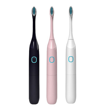 Electric Toothbrush Vibrating Toothbrush with Replacement Heads Acoustic Wave Vibration Waterproof Soft Electric Toothbrush IPX7 Waterproof