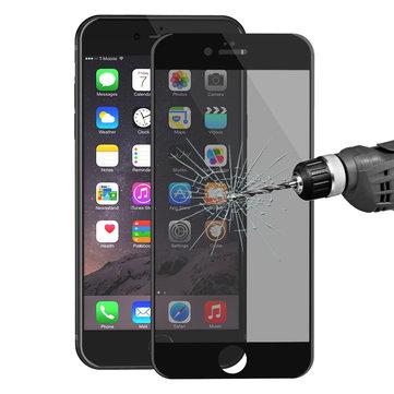 ENKAY Anti Spy 3D Arc Edge 0.26mm 9H Carbon Fiber Tempered Glass Beskyttelsesfilm til iPhone 6 6s