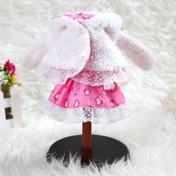 BBGirl 30cm 35cm BJD Doll Dress Rabbit Hood Party Fashion Clothes DIY Accessories Toy