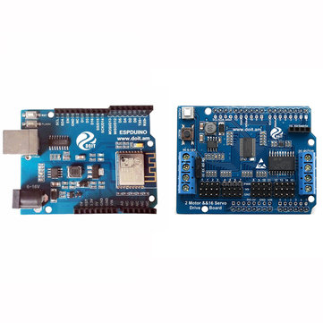 ESPduino Development Board Compatible With WiFi For Control 2 Channel Motor + 16 Channel Servo Expansion Board