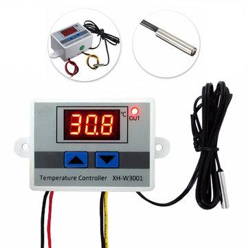 XH-W3001 Controlador digital de temperatura 10A 12V 24V 220V Controlador t/érmico de calidad Termostato de termopar con pantalla LCD # 2 240v