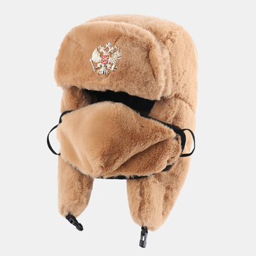 Unisex Cotton Rabbit Hair Warm Windproof Ear Face Protection Outdoor Trapper Hat Ushanka Hat