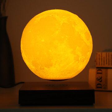 3D Měsíční lampa Magnetická levita Home Dekorativní Měsíc Svítilna Plovoucí lampa