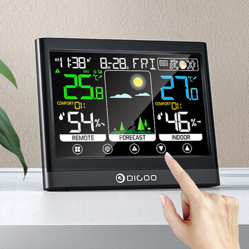 DIGOO DG TH8622 3 Channels Color Screen Weather Station