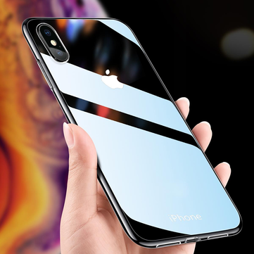 Bakeey Clear Tempered Glass Protective Case For iPhone XR/XS/XS Max/X/8/8 Plus/7/7 Plus