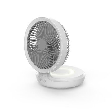 Edon E808 Wireless Suspended Air Circulation Fan USB Rechargeable Folding Electric Fan from Xiaomi Eco-system Night Light Touch Control 4 Wind Speed