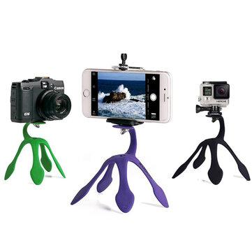 Mini Tripod Mount Portable Flexible Stand Holder for iPhone Smartphone Gopro Sjcam Xiaomi Yi