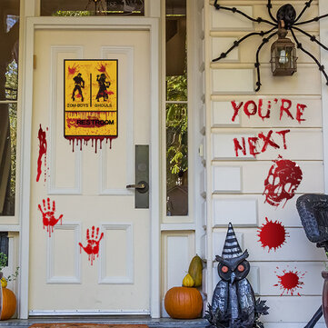 Buy Halloween DIY Wall Window Refrigerator Stickers Halloween Horror Scary Props Decoration Party Supplies with 2 on Gipsybee.com