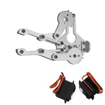2 DOF Aluminium Robot Arm Clamp Claw Mount Kit With MG996R Servo