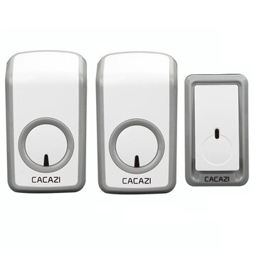 CACAZI Wireless Doorbell AC 110-220V Ultra Long Distance 350M Remote Door Bell 48 Chimes 6 Volume