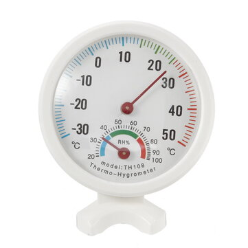 -35-55°C Mini Indoor Analog Temperature Humidity Meter Thermometer Hygrometer