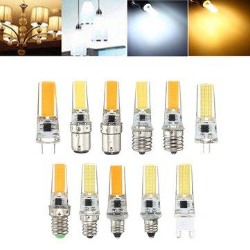 Dimmable E11 E12 E14 E17 G4 G8 G9 BA15D 2.5W LED COB Silicone Pure White Warm White Light Bulb 110V