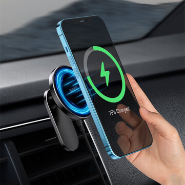 Baseus 15W Magnetic Wireless Car Charger Phone Holder Center Console or Air Outlet Mount For iPhone 12 Series