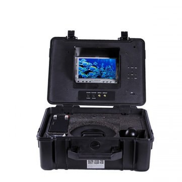 """CR110-7P 7"""" Color Monitor DVR Function Under Water Camera with 12Pcs White LEDs Camera"""