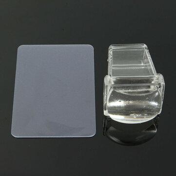 साफ़ सॉफ्ट सिलिकॉन कील मुद्रांकन टेम्पलेट प्रिंटर सेट स्क्रैपर छवि प्लेट स्थानांतरण उपकरण DIY डि