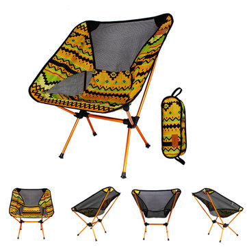 IPRee™ Portable Camping BBQ Folding Chair Ultralight Aluminum Alloy Backrest Max Load 150kg