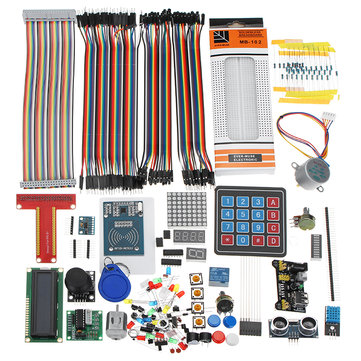 LCD1602 Breadboard DuPont Cable RFID Starter Learning Kit Arduino Raspberry Pi 3 Pi 2 Model B / B+