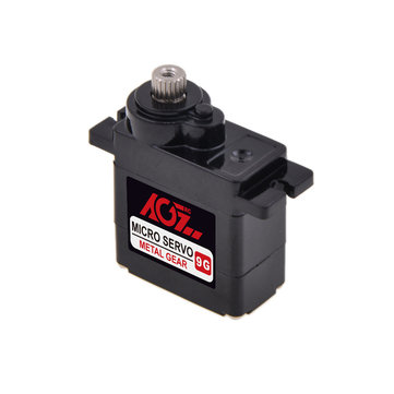 AGF B9DLMA 2.2KG Small Torsion 9g Micro Metal Gear Analog Servo For Fixed Wing RC Airplane Car 450 Helicopter Robot
