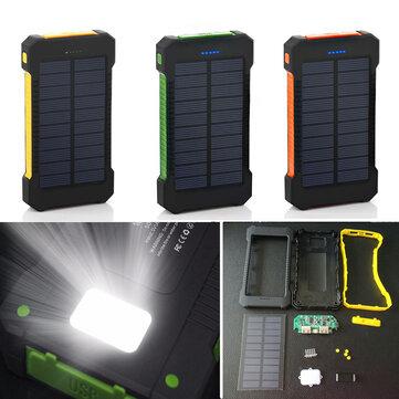 Bakeey F5 10000mAh Solar Panel LED Dual USB Ports DIY Power Bank...