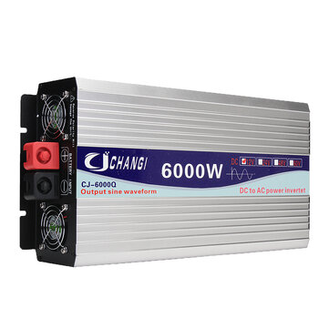 Intelligent Screen Pure Sine Wave Power Inverter 12V/24V To 220V 3000W/4000W/5000W/6000W Converter