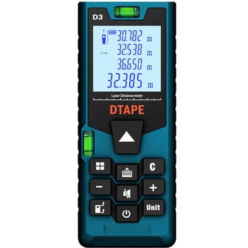 डीटीएपीई D3 डिजिटल लेजर 40 मीटर 60 मीटर 80 मीटर 100 मीटर रेंजफाइंडर दूरी मीटर एकल सतत क्षेत्र / वॉल्यूम / प