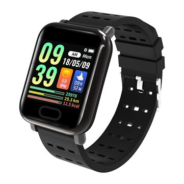 XANES® K9 1.3'' IPS Color Touch Screen IP67 Waterproof Smart Watch Heart Rate Blood Oxygen Pressure Monitor Fitness Exercise Bracelet