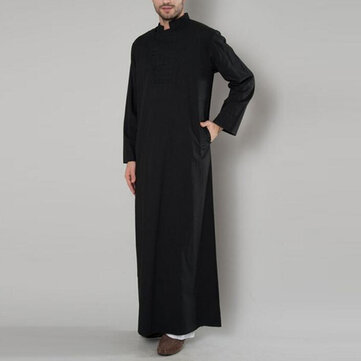 INCERUN Mens Vintage Arabian Robe Tops Kaftan Long Dress