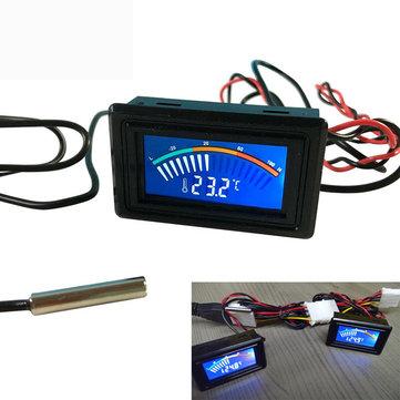 DC 5-25 V Thermometer Suhu Digital Display Meter Untuk Komputer Air Pengukuran Celcius + 1 M Probe Mobil Thermometer