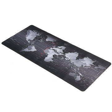800x300x2mm Large Size World Map Mouse Pad For Laptop Computer
