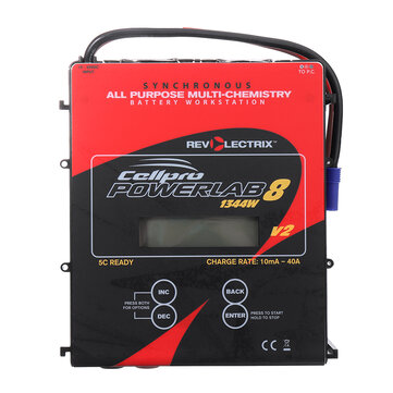 Revolectrix Cellpro Powerlab 8 v2 1344W 40A DC Battery Charger With EC5 Plug for 1-8S Lipo Battery