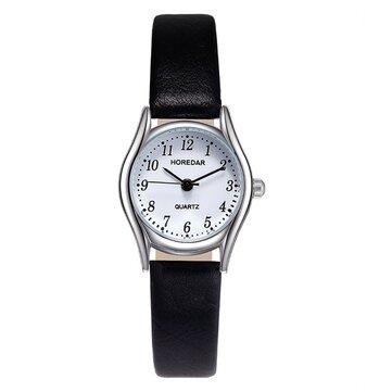 NGÀY 3079 Đồng hồ đeo tay nữ phong cách retro Đồng hồ đeo tay nhỏ bằng da