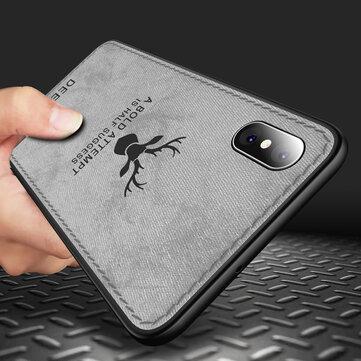 Bakeey Beskyttelsesveske til iPhone XS Max Fabric Cloth Anti Fingeravtrykk Sweat Proof Back Cover