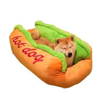 Hot Dog Shape Pet Mattress Puppy Cat Soft And Dirty Pet Bed S LSize